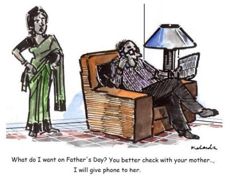 Mahendra Shah- Father's day cartoon